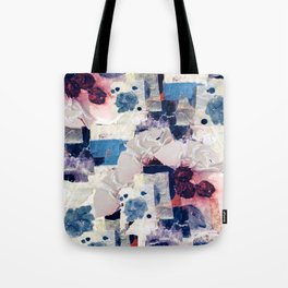 patchy collage Tote Bag