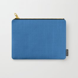 Azure Strong Blue Solid Matte Colour Palette Carry-All Pouch