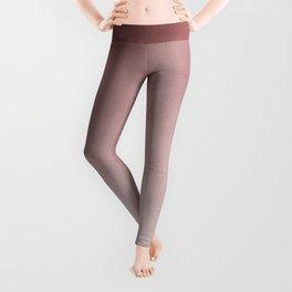 Elegant pink rose gold modern gradient Leggings