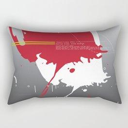Transitions 2341 - Red Grey Zen Abstract Rectangular Pillow