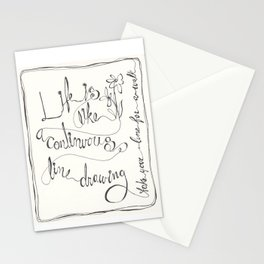 Line  ( Take your line for a walk) Stationery Cards