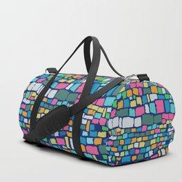 Preppy Painted Patchwork Duffle Bag
