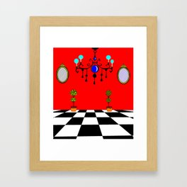 An Elegant Hall of Mirrors with Chandler and Topiary Framed Art Print