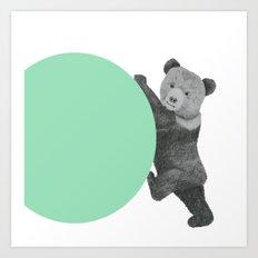 peppermint bear Art Print