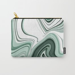 Bold Green Agate Stone Effect Design Carry-All Pouch