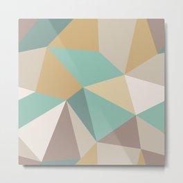 Modern Abstract Geometric Print Pattern No. 3 Metal Print