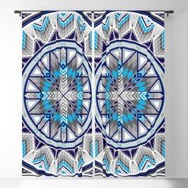 Sacred Places Blue Blackout Curtain