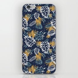 Festive Forest - Navy iPhone Skin