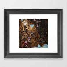 Regarde moi et l'amour suivra Framed Art Print