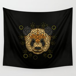 Panda Face Wall Tapestry
