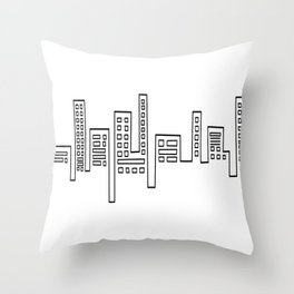 City Shape Throw Pillow