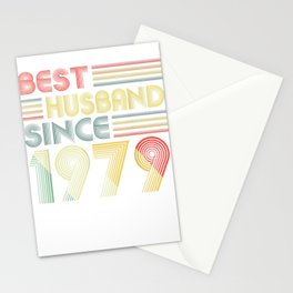 40th Wedding Anniversary Gifts Best Husband Since 1979 Stationery Cards