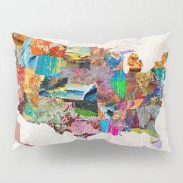 USA Map Pillow Sham