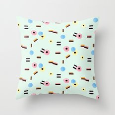 sweet things: allsorts Throw Pillow