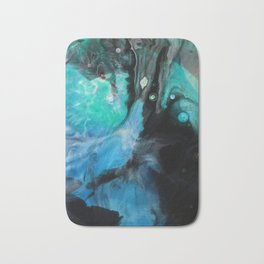 Knowing Tree - Original Abstract Painting Bath Mat