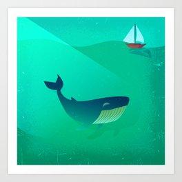Whale Tale Art Print