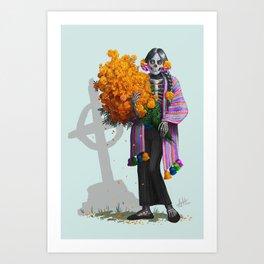 Catrina en Xochimilco Art Print