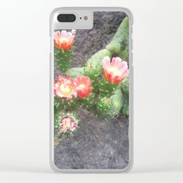 A cactus in its bloom Clear iPhone Case