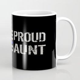 Police: Proud Aunt (Thin Blue Line) Coffee Mug