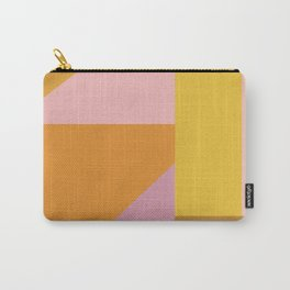 Shapes in Vintage Modern Pink, Orange, Yellow, and Lavender Carry-All Pouch