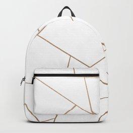 Rose Gold White Geometric Glam #1 #geo #decor #art #society6 Backpack