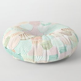 MERMAID SHELLS - MINT & ROSEGOLD Floor Pillow