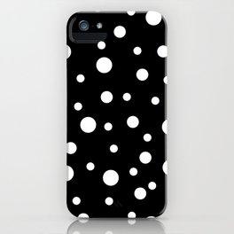 White Dots on Black 02 iPhone Case