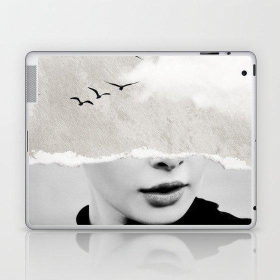 minimal collage /silence Laptop & iPad Skin