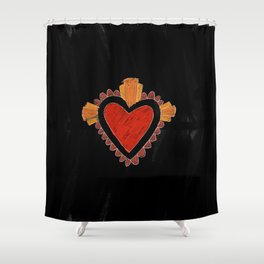 Black love Shower Curtain