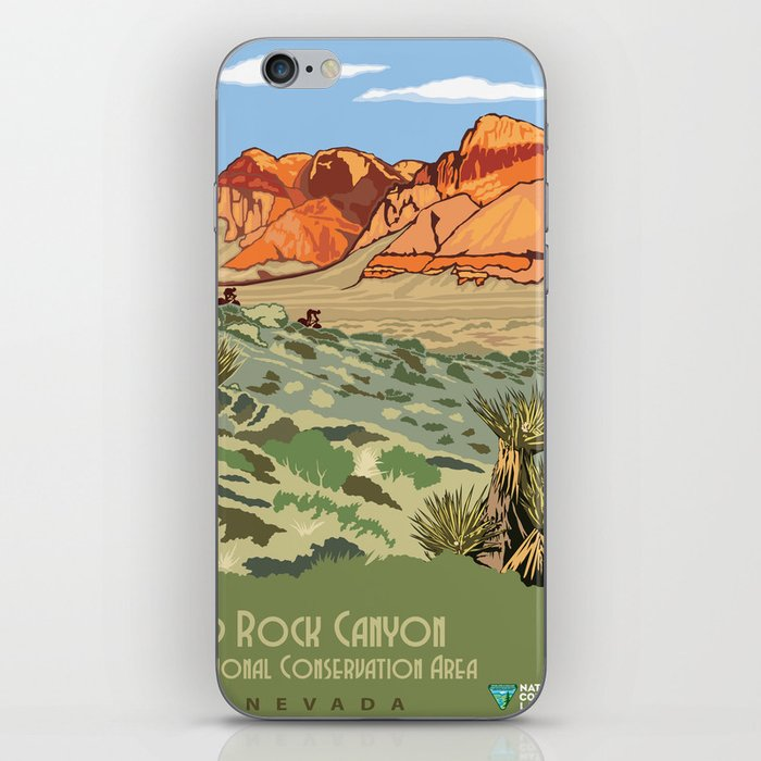 Vintage Poster - Red Rock Canyon National Conservation Area, Nevada (2015) iPhone Skin