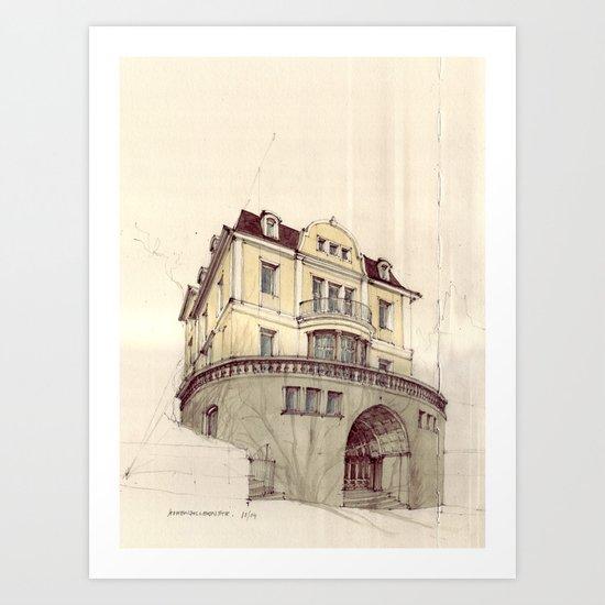 Hohenzollernstraße, Stuttgart Art Print