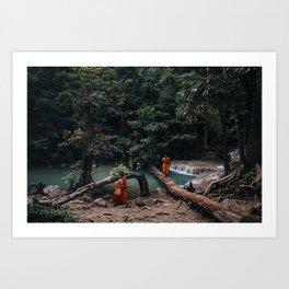 Erawan Waterfall, Thailand Art Print