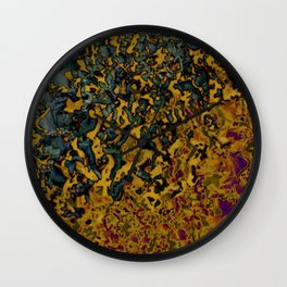 Colorful Lichen Wall Clock