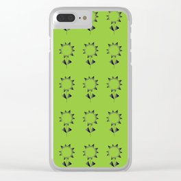 Spiny flower pattern Clear iPhone Case