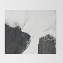 brush stroke black white painted II Throw Blanket
