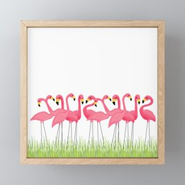 Cuban Pink Flamingos Framed Mini Art Print