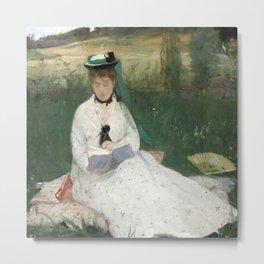 Reading by Berthe Morisot Metal Print