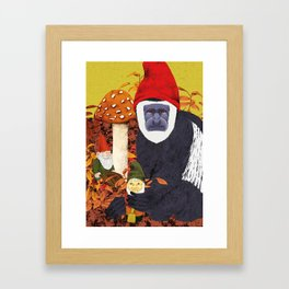 Autumn Gnomes Framed Art Print