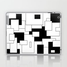 Squares - black and white. Laptop & iPad Skin