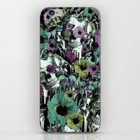 sandman iPhone & iPod Skins featuring Mrs. Sandman, melting rose skull pattern by Kristy Patterson Design