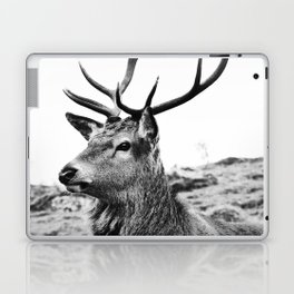 The Stag on the hill - b/w Laptop & iPad Skin