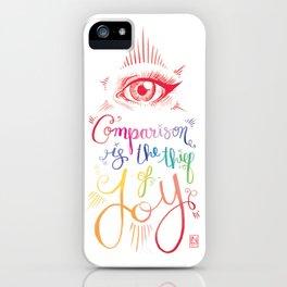 Comparison Kills iPhone Case