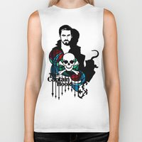 captain hook Biker Tanks featuring Shadows The Captain Hook by Mad42Sam