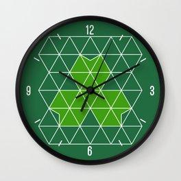 Geometric Clover Wall Clock