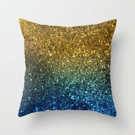 Ombre glitter #3 Throw Pillow