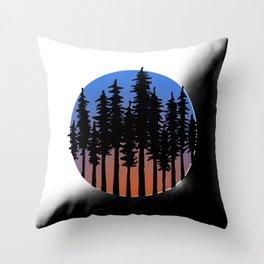 Redwoods Throw Pillow