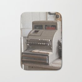 Old Cash Register Bath Mat