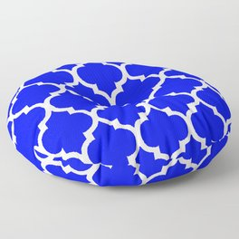 MOROCCAN COBALT BLUE AND WHITE PATTERN Floor Pillow
