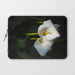 Close-up of Giant White Calla Lily Laptop Sleeve