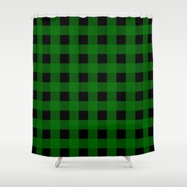 Pine Green Buffalo Check - more colors Shower Curtain